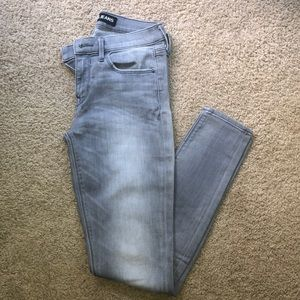 Express Grey Mid Rise Legging Jeans